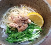 鶏と水菜のフォー